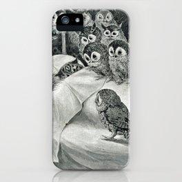 Louis Wain Cat Nightmare Owl Bird iPhone Case