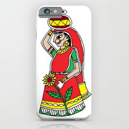 Beauty | Madhubani Painting |  Madhubani Hub | Original painting of Amrita Gupta iPhone Case