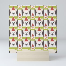 Penguins & Polar Bears (Patterns Please) Mini Art Print