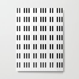 Piano Key Stripes Metal Print