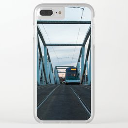 railroad bridge Clear iPhone Case