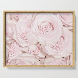 Roses have thorns - Floral Flower Pink Rose Flowers Serving Tray