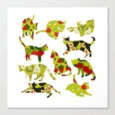Kitchen Cats Canvas Print