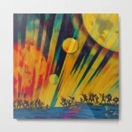 The New Planet, landscape painting by Konstantin Yuon Metal Print