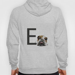 E is for English Bulldog Hoody