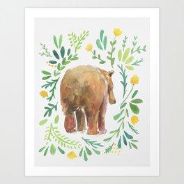 Watercolor Bear Art Print