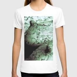 Green Floral Breasts T-shirt