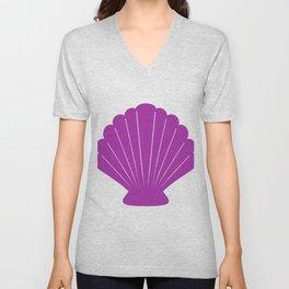 Seashell (Purple & White) Unisex V-Neck
