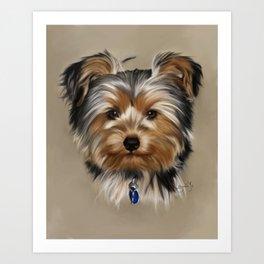 Yorkshire Terrier Painting Portrait Art Print