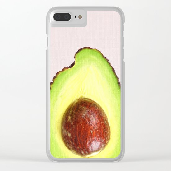 Avocado poster Clear iPhone Case