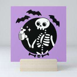 Death Before Decaf // Purple Mini Art Print