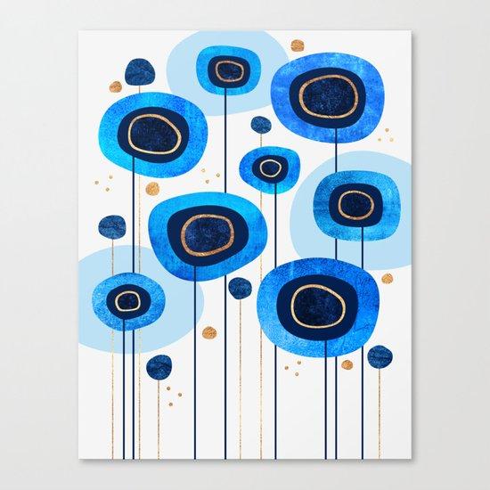 Floral Blues Canvas Print