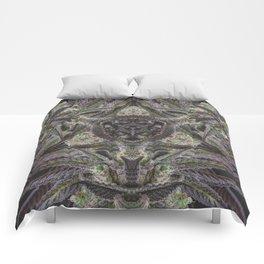 Purple Black Lime #2 Comforters