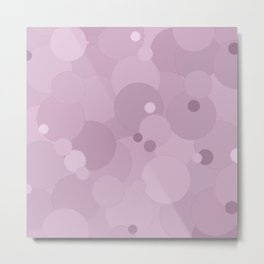 Winsome Orchid Bubble Dot Color Accent Metal Print