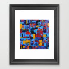 Blue Sunset Framed Art Print