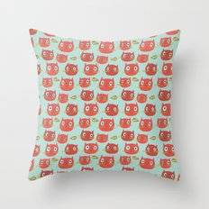 Pattern Project #32 / WTF Cats Throw Pillow