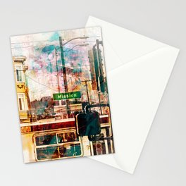La Mission aka the District Vibe in San francisco Stationery Cards