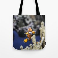 nemo Tote Bags featuring Nemo by lulu althuwaini