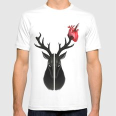 The Stag Mens Fitted Tee MEDIUM White
