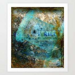 Oat Mills Bottle Grunge Art Print