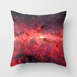 Don't Be Afraid To Reach For The Stars, Galaxy Background, Universe Large Print, Space Wall Art Throw Pillow