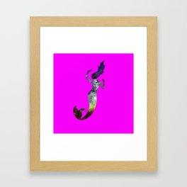 Galaxy Mermaid 2 (Pink) Framed Art Print