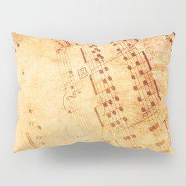 Music Notes Pillow Sham