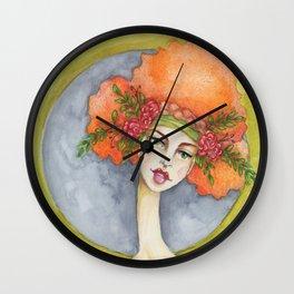 Jenny Manno Original Watercolor Wall Clock
