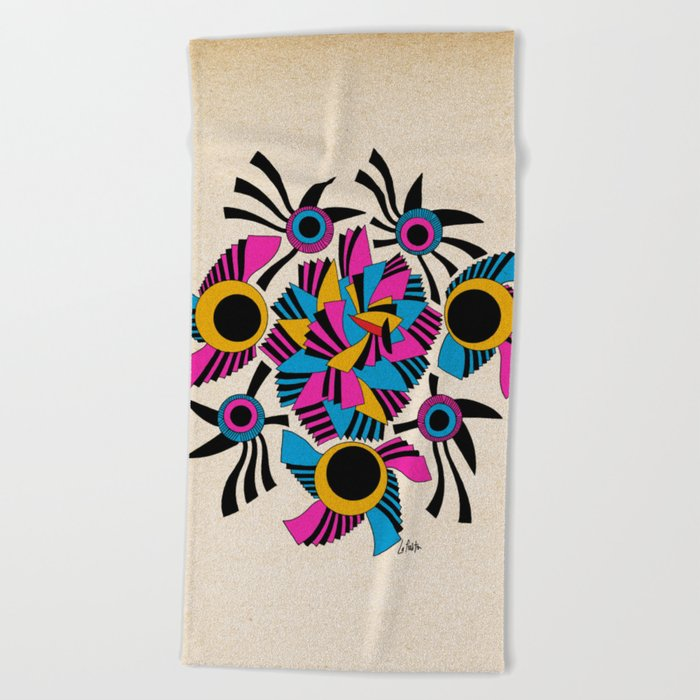 - rose - Beach Towel