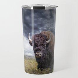 Plains Buffalo on the Prairie Travel Mug