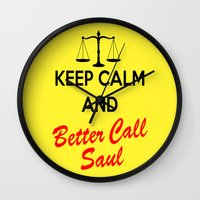 better call saul Wall Clocks featuring Better Call Saul by DeBUM