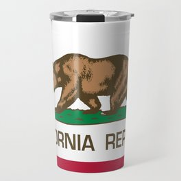California flag, High Quality Authentic Travel Mug