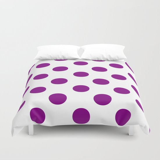 Polka Dots (Purple/White) Duvet Cover