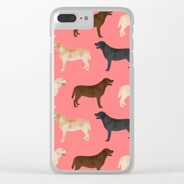 Labrador retriever coats of all colors dog breed pet portraits dogs pets unique pet themed gifts Clear iPhone Case