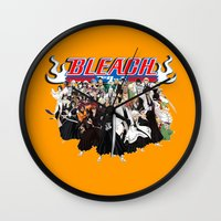 bleach Wall Clocks featuring TOGETHER BLEACH by feimyconcepts05
