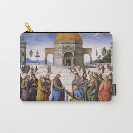 The Delivery of the Keys Painting by Perugino Sistine Chapel Carry-All Pouch