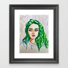 green godess Framed Art Print