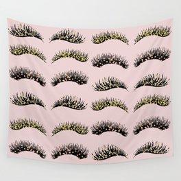 Blush pink - glam lash design Wall Tapestry