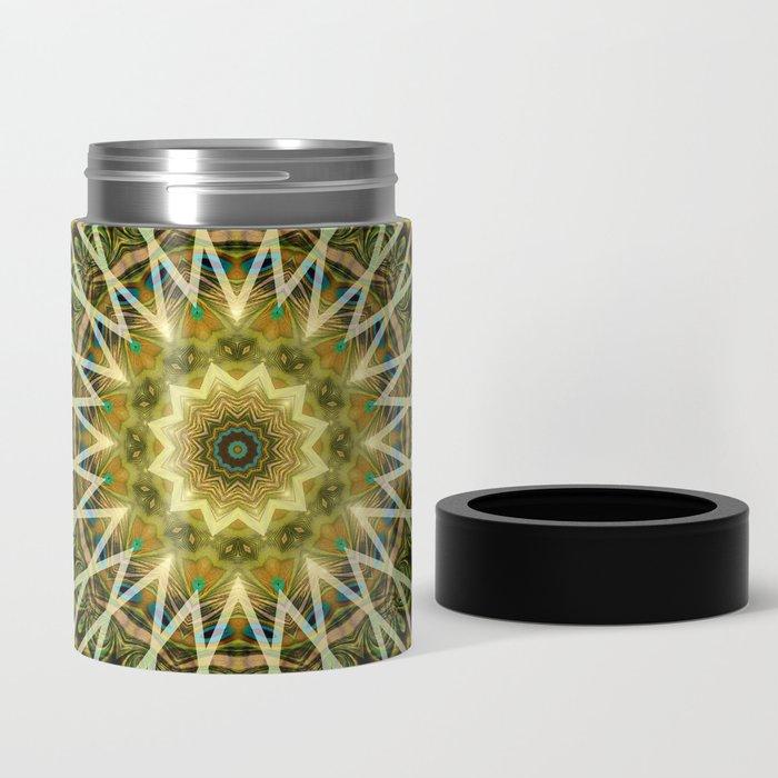 Geometric Forest Mandala Can Cooler