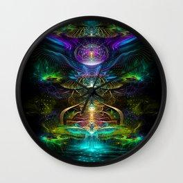 Neons - Fractal - Visionary - Manafold Art Wall Clock