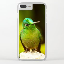 Emerald Green Clear iPhone Case