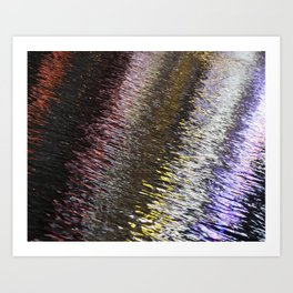 Abstract Lights on River Water in Japan 6 Art Print