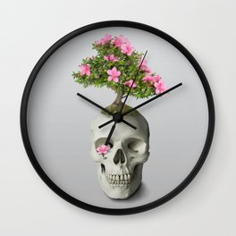Bonsai Skull Wall Clock