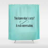 sexy Shower Curtains featuring SEXY by otherside