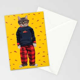 Nigel Cat Nap by Crow Creek Cool Stationery Cards