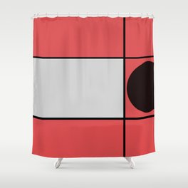 Intruder Circle Shower Curtain