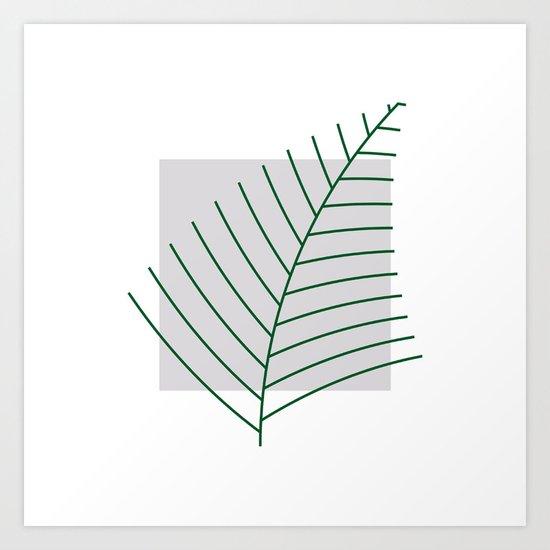 #290 Fern – Geometry Daily Art Print