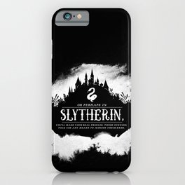 Slytherin B&W iPhone Case