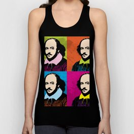 WILLIAM SHAKESPEARE (4-UP POP ART COLLAGE) Unisex Tank Top
