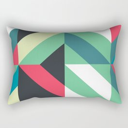 Colorful Shapes Texture, Retro Style, Rectangular Pillow